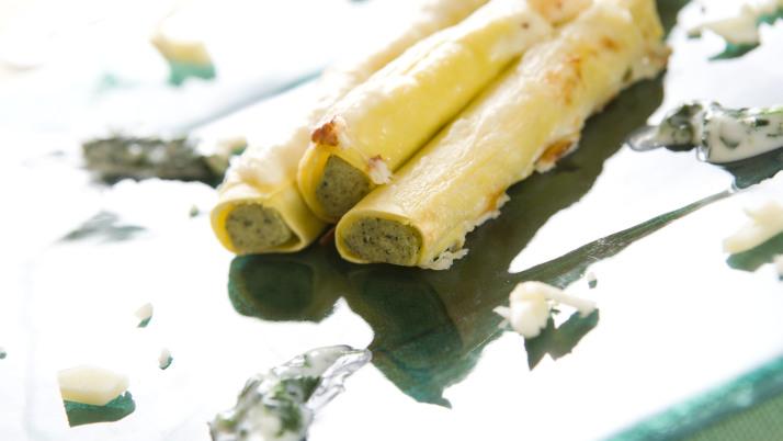 Cannelloni di ricotta e spinaci gratinati al Montasio