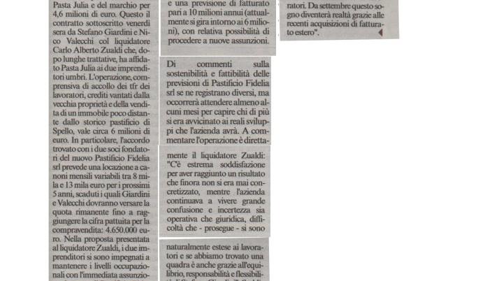 Corriere dell'Umbria 31.05.2015