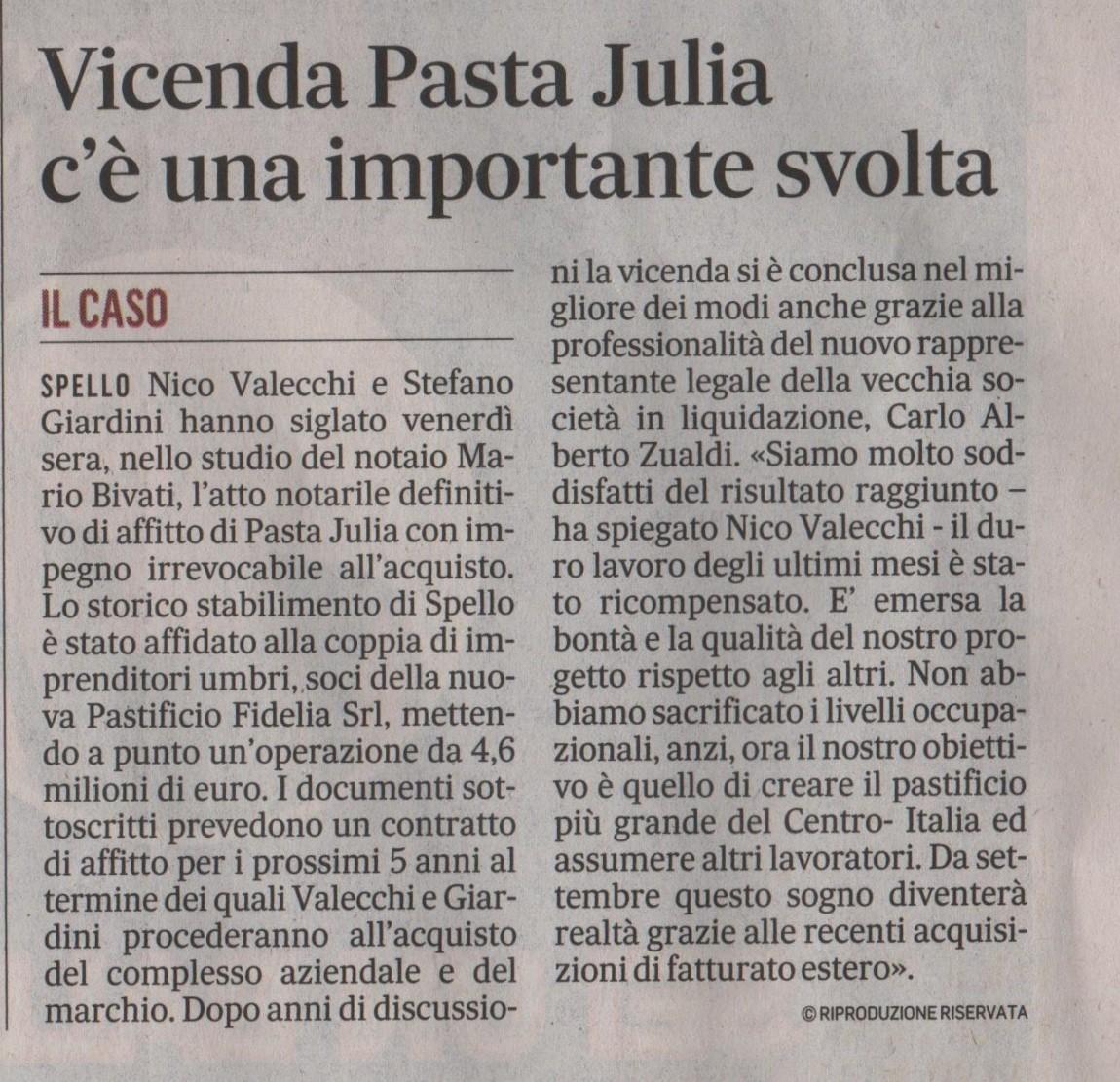 Il Messaggero Umbria 31.05.2015
