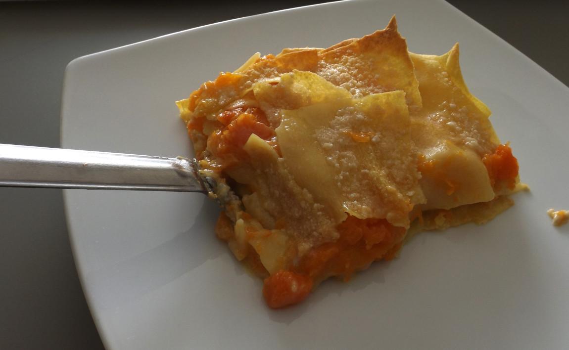 Lasagna alla zucca e gorgonzola